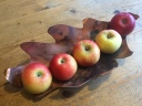 copper leaf with apples